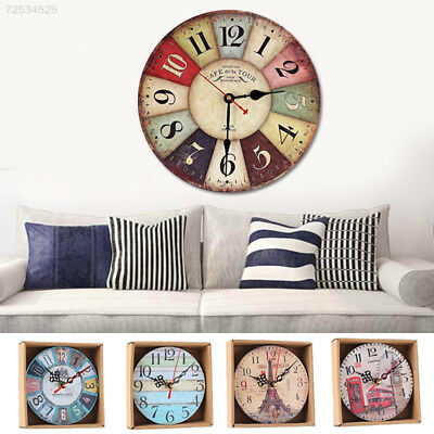 2203 Home Garden Room Antique Decor Wall Clocks Decoration Clock Shabby Chic UK