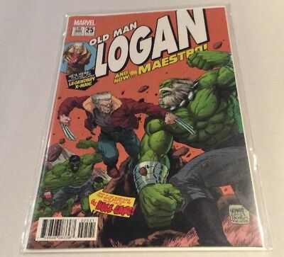 Old Man Logan #25 (August 2017, Marvel) Grummett Variant Homage