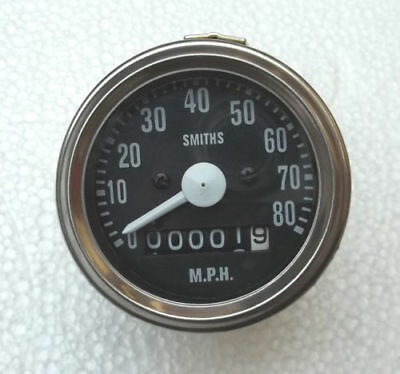 60 MM TRIUMPH T20 CUB Speedometer (Replica -80421/19/2 ) Chrome Bezel