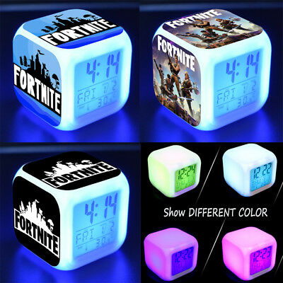 Hot  Fortnite Game Figures Color Changing Night Light Alarm Clock Kids Toy Gift