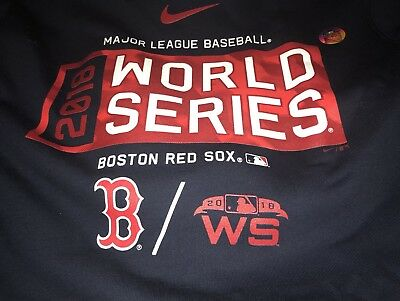 san francisco bb9c3 98adc NIKE 2018 BOSTON Red Sox World Series Hoodie Size Large L ...