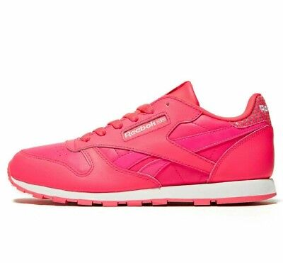 6375364f5da REEBOK CLASSIC LEATHER Juniors ladies Trainers Size  4 - £23.99 ...