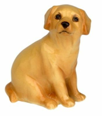 John Beswick Collectors Dog Figurine - Yellow / Golden Labrador Pup  # 41YEL