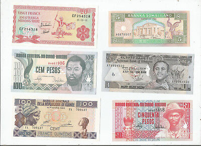 Africa  Six  Notes  Unc
