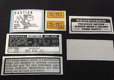 "Honda Cb350 Four ""warning&service""kit Decals"
