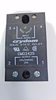 Crydom Solid State Relay CMD2425 25A Input 3-32VDC Output 120/240VAC NEW