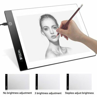 A2 A3 A4 LED Slim Art Craft Drawing Tracing Tattoo Light Box Pad Board Lightbox