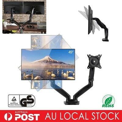 F160 Dual Arm Desktop Mount Monitor HD LCD Stand Display Screen TV Gas Strut