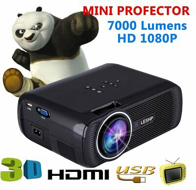 YG300 Mini Portable Projector 3D LED HD Home Theater Cinema 1080p AV USB HDMI  M