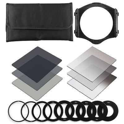 17Pcs Neutral Density Filter ND2 ND4 ND8 Set & Ring Adapter& Holder For Cokin P