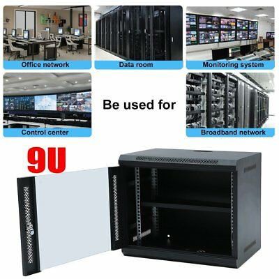 9U 400mm Deep Network Data Rack Cold Rolled Steel Wall Mounted Server Cabinet AU