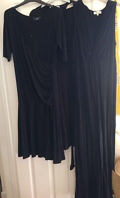 Bundle Of Black Maternity Dresses Size 12-Next And Dorothy Perkins