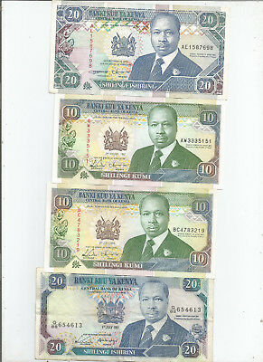 Kenya  Four  Notes  Early  90's