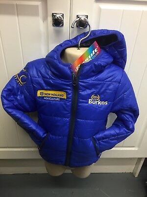 Kids Result New Holland Puff / Padded Jacket Windproof Coat