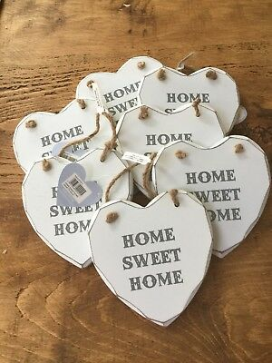 Job Lot Wholesale Wooden Hearts Home Sweet Home Shabby CarBoot Market  X 7