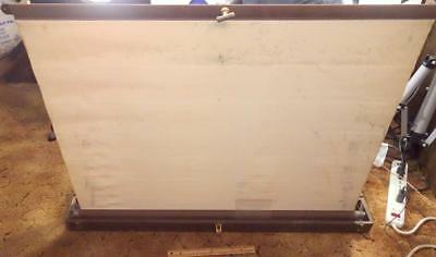 Antique DA LITE Portable Movie Slide Film Projection Screen With Wooden Box
