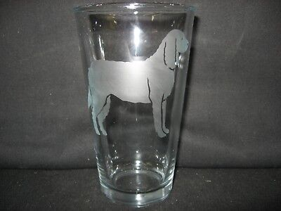 New Etched American Water Dog Spaniel Pint Glass Tumbler