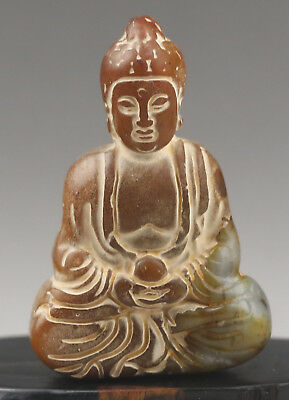Chinese old natural jade hand-carved buddha statue pendant NO.F232