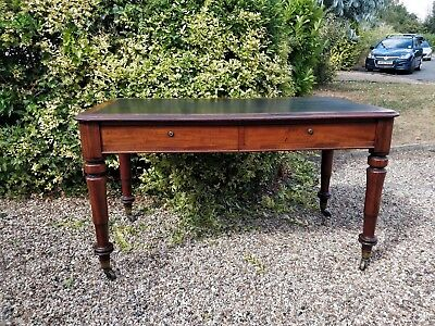 Attractive Antique mahogany Victorian writing desk table 1800s