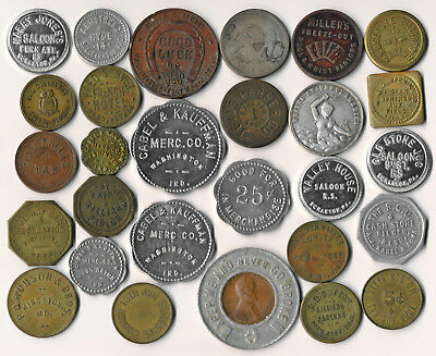 28 Good-For Tokens & A Few Medals (Quite An Interesting Lot) No Reserve