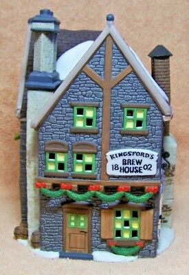 """NEW 1993 Department 56 """"KINGSFORD'S BREW HOUSE"""" DICKENS VILLAGE SERIES"""