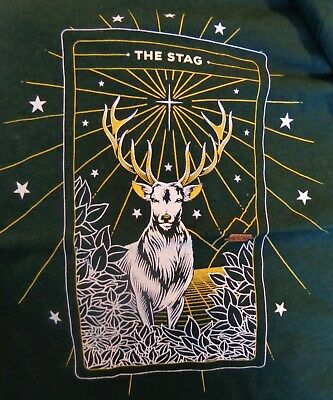 "Jagermeister Ladies Shirt - ""The Stag"" - Christmas -  Dark Green - Small - NEW"