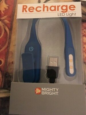 Mighty Bright Recharge LED Book Light, Blue, Brand New In Box