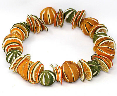 26cm WHOLE DRIED FRUIT & SLICES CHRISTMAS FESTIVE DECORATIVE DOOR WREATH RINGS