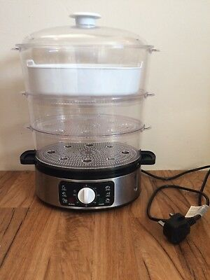 Food Steamer 3 Tier by 'Crofton' Professional Model: TS-9688-2 & Instructions