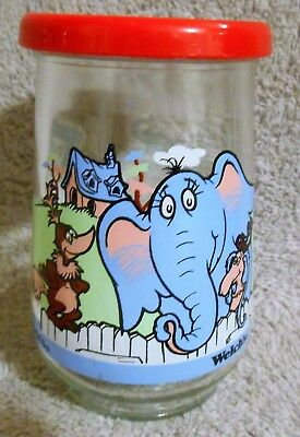 Welch's Jelly Jar Wubbulous World of Dr Seuss #2 Horton and Friends - 1996