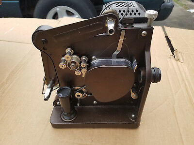 Vintage Kodak Kodascope Model D 16mm Cine Projector with Case, Cable, & Extras