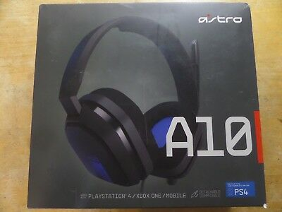 ASTRO Gaming A10 Gaming Headset PS4/Xbox One/Mobile/PC - Grey/Blue