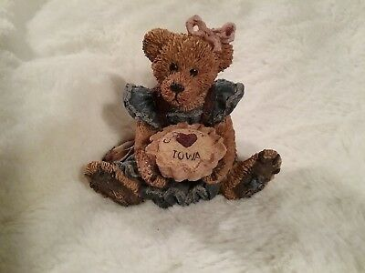 Boyds Bears & Friends 1995 Teddy Bear Reunion Clarion Iowa Bear Figurine #1230