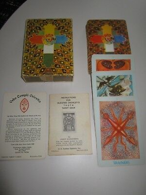ALEISTER CROWLEY  Orbo Templi Orientis Large THOTH TAROT CARDS VINTAGE
