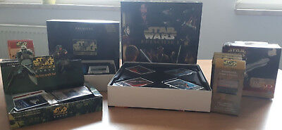 Star Wars CCG Cards, 3 D Puzzle, leere Displays