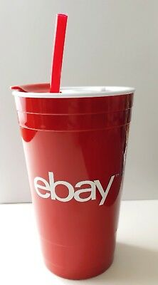 eBay Branded Logo Red Cup Reusable 16oz Double Wall Acrylic