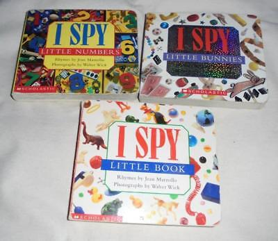 Set of 3 I Spy board books: Numbers/Bunnies/Little