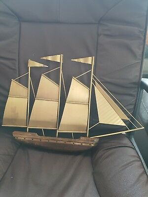 Antique vintage handmade model ship