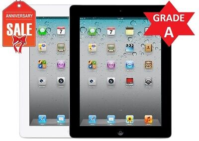 Apple iPad 2nd WiFi + GSM Unlocked | 16GB 32GB 64GB 128GB | Black or White (R)