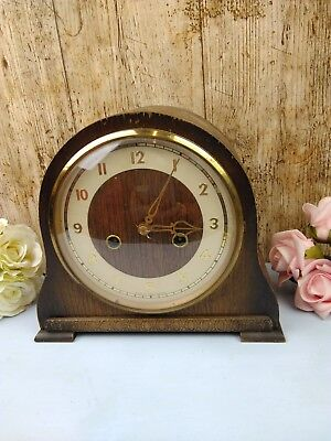 Antique - Smiths Enfield - Mantle Clock - Spares - Repair - Restoration - NO Key