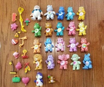 Huge Lot of Care Bears Figures 1980s Vintage Poseable Figures Toys