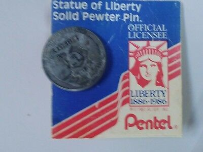 Statue of liberty pewter pin