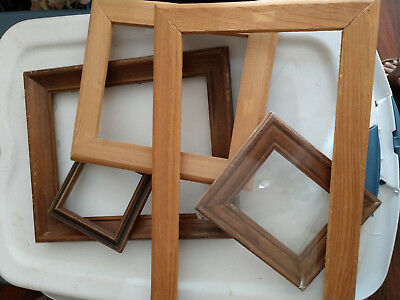 Five New Wooden Frames For Crafts And Pictures Finished And Unfinished
