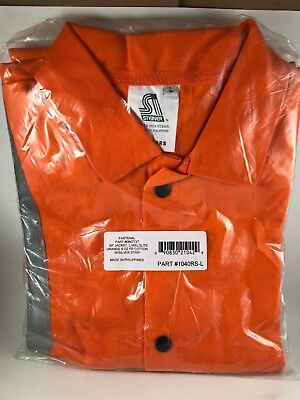 "Steiner 30"" Welding Jacket Orange 9 oz, FR Cotton W/Silver Strip 1040RS-L"