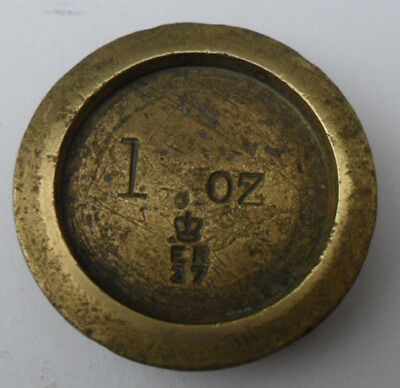 Antique Edwardian Brass Weight - 1 oz Sheffield