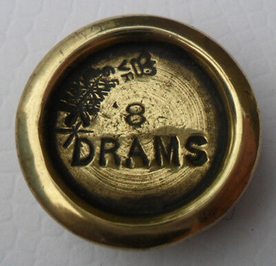 Antique Victorian Brass Weight - 8 DRAMS Wolverhampton