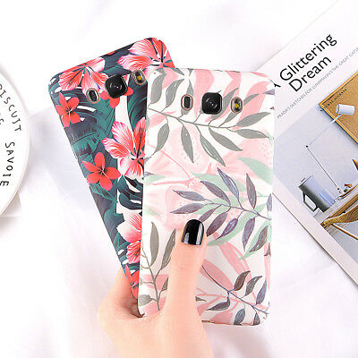 Shockproof Matte Phone Case Floral Hard Cover For Samsung Galaxy J5 C7 A3 S7 S8