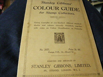 Stanley Gibbons stamp key 100 diff coloured stamps printed Harrison 1920's?