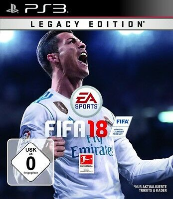 PS3 / Sony Playstation 3 game - FIFA 18 #Legacy Edition GER boxed