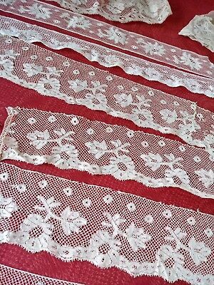 8 wide Very FINE French Antique Lace WIDE Valenncia  Trim silk